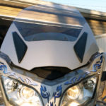 2010 Spyder RT Silver Metallic windshield