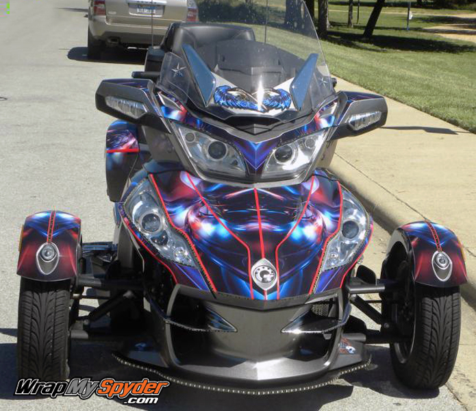 Can-am Spyder Hymanaius decal wrap Kit