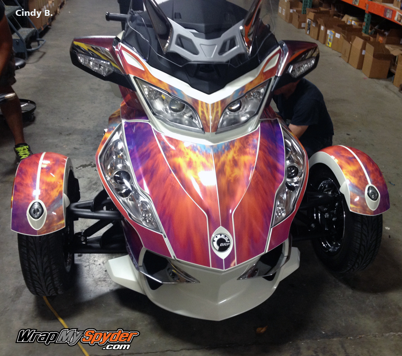 Canam Spyder Wrap - Vinyl wrap for motorcycle helmets