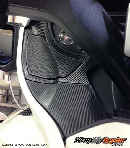BRP Spyder Carbon Fiber dash skinz