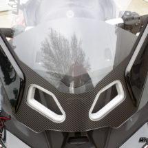 Textured Carbon Fiber Windshield Blackout