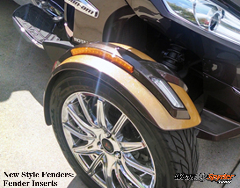 New Style Fender- Inserts in Ultra Metallic Gold