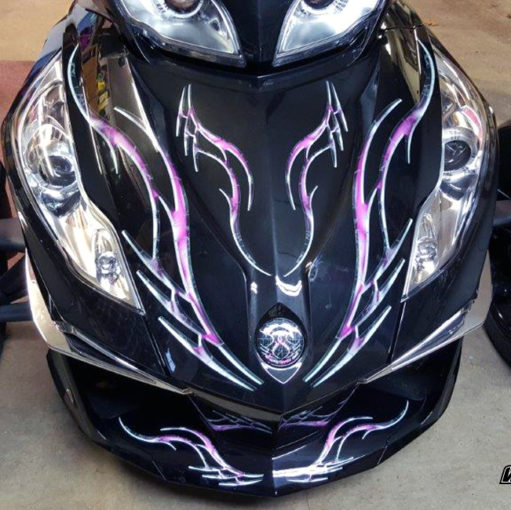 Barbwire Lightning Pink front
