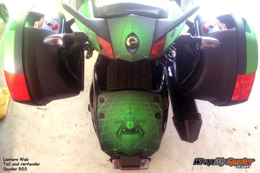 Lantern Web Tail Rear Fender combo