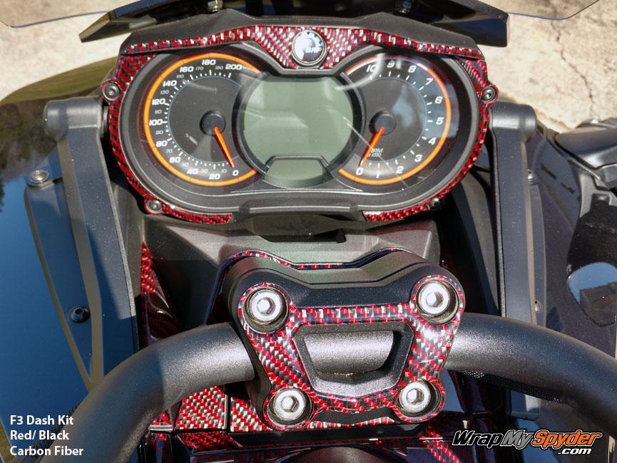 F3 Black-Red Carbon Fiber dash