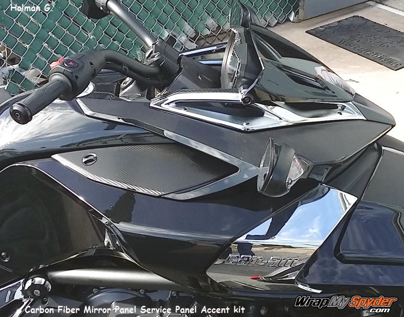 BRP F3 textured carbon fiber parts mirror - service