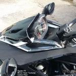 F3 textured carbon fiber parts mirror - service