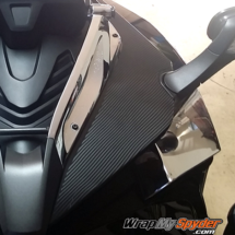 F3 Spyder-textured-carbon-fiber-mirror panels