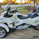 brp decal set for canam spyder barbwire Blue