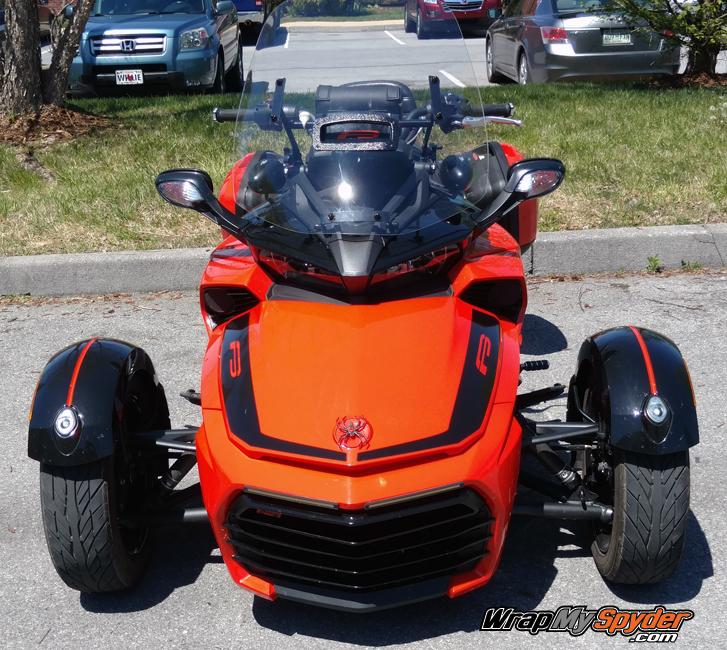 BRP Can-am Spyder F3 Leblanc Racing stripe kit