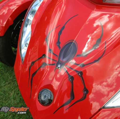 Bellerdine spider decal Black / Red