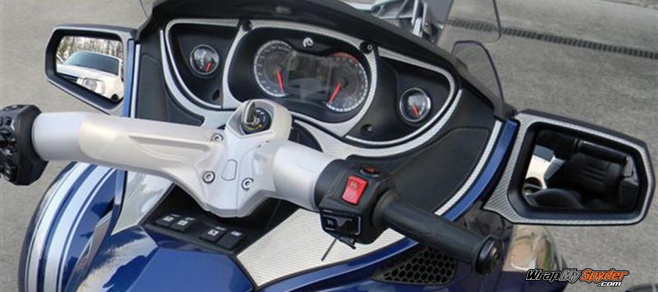 Silver RT Dash for can am Spyder RT