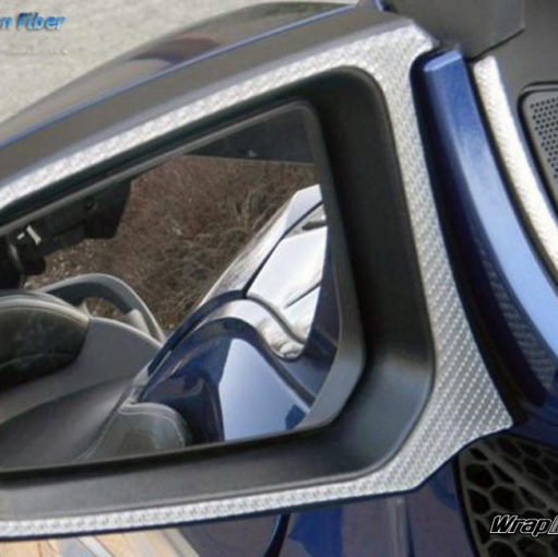 Silver Carbon Fiber Spyder RT mirror trim