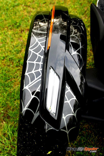 Charcoal new style fender webs