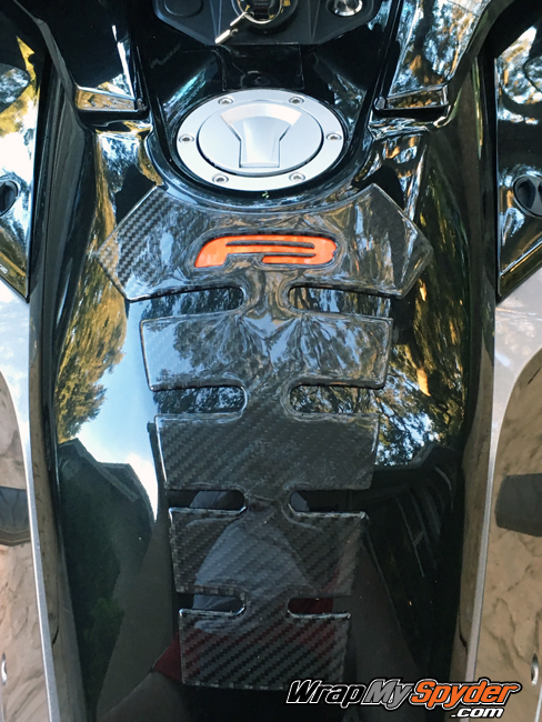 can-am red f3 spine real carbon fiber