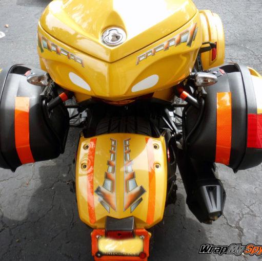 Rally Check Orange rear fender
