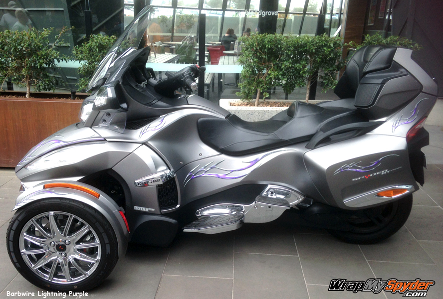Barbwire Lightning Purple Spyder graphics kit