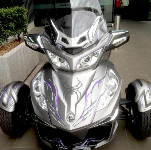 Barbwire Lightning Purple BRP Spyder graphics ki
