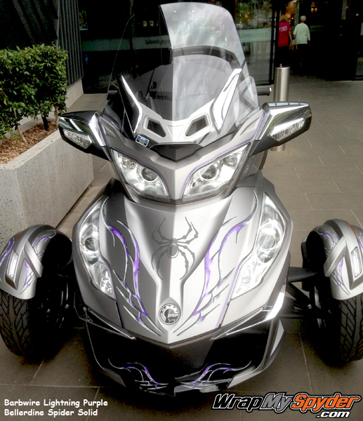 Barbwire Lightning Purple BRP Spyder graphics ki