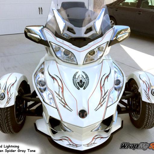 Barbwire Red lightning BRP Spyder graphics kit