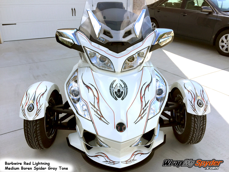 Barbwire Red lightning BRP Spyder graphics kit