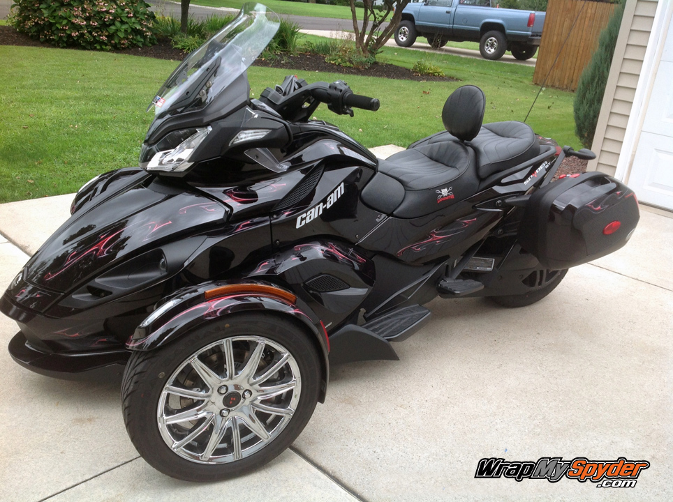 can am spyder st rt ghost red can am spyder st rt decal products. Black Bedroom Furniture Sets. Home Design Ideas