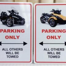 Spyder Parking Signs