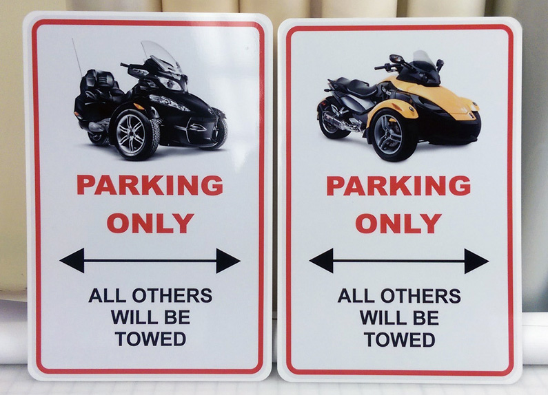 Spyder Parking Signs