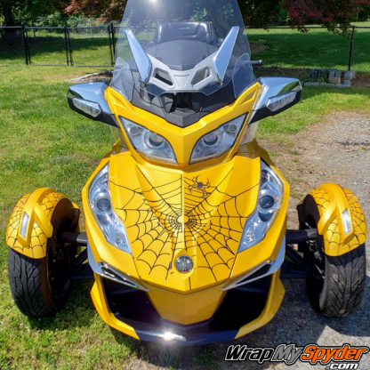 BRP Can am Spyder Bellerdine-web decal kit with black webs and Black - Red spiders