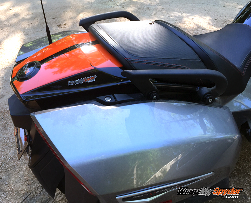 F3 Touring and Limited tail stripe can-am red