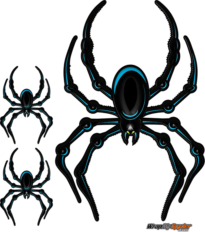 Blue Bellerdine spider graphics kit