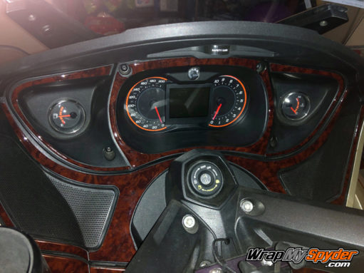 Our Beautiful Lavish wood Spyder RT dash kit.