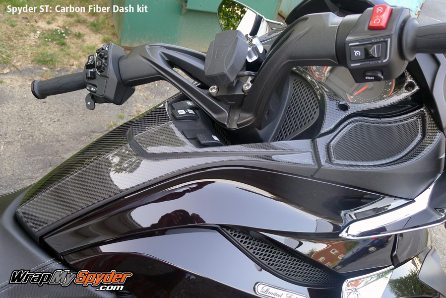 Spyder ST Carbon Fiber Dash kit