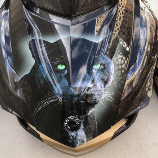 Black-Panther-RT frunk wrap