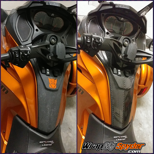 Spyder ST Real Carbon Fiber Dash kit