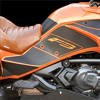 Can-am Spyder F3 knee panel cut out kit with heel protection