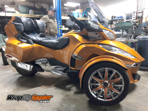 Spyder RT-wheel-kit- in cognac color