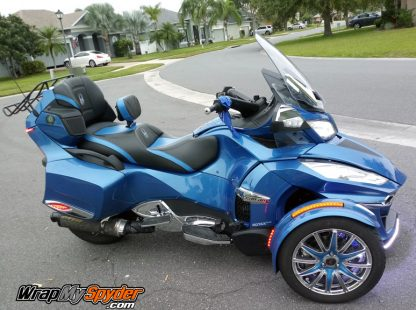 BRP Can am Spyder Rt 15 inch 12 spoke wheel kit. Special Order color Bright Blue Met