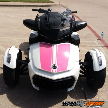 BRP Can-am Spyder F3-Daytona Racing Stripes-Bubble-Gum-Pink