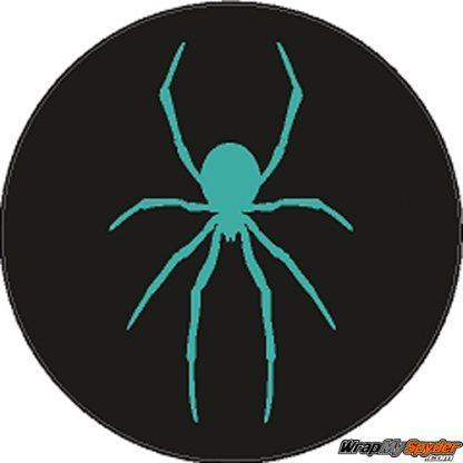Spider Wheel Center Cap decal Aqua Teal