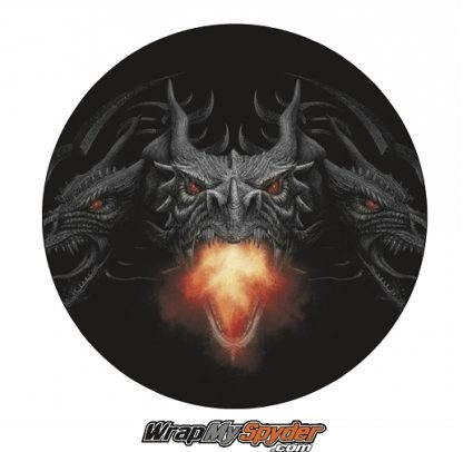 Dragon Fire BRP Can-am Spyder Emblem covers decal overlay