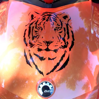 Can-am Spyder Tiger-head-Black decal kit