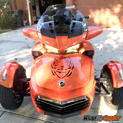 BRP Can-am Spyder Tiger-head-decal kit.