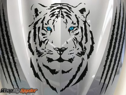 BRP Can-am Spyder Tiger-head-decal kit. for all model Spyders.
