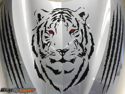 Can-am Spyder Tiger-head-decal kit. for all model Spyders.