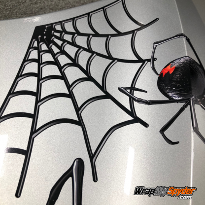 3D close up view Black-Widow spyder decal kit