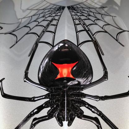 Black-Widow-Creeper-can-am-spyder-decal-kit-close up