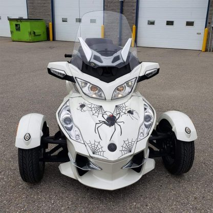 Black-Widow-Crawler Can-am Spyder graphics kit. Universal fit for all models of Can-am Spyder