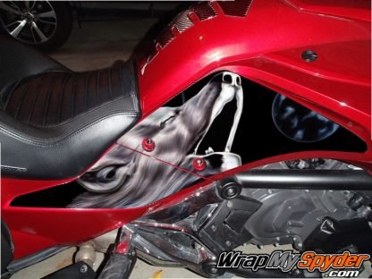 BRP Can-am Spyder F3 WOLF-Alpha-Dog knee panel kit
