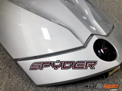 BRP Can-am Spyder Red-Black Carbon Fiber Spyder Text sticker decal